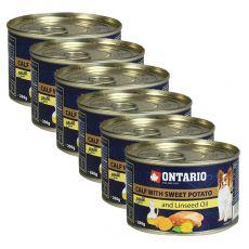 Konzerva ONTARIO Teľacie so sladkým zemiakom a ľanovým olejom – 6 x 200g