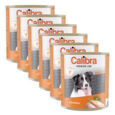 Konzerva CALIBRA Premium Adult - kura, 6 x 800 g, 5 + 1 GRATIS