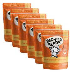 MEOWING HEADS Paw Lickin Chicken GRAIN FREE 6 x 100 g