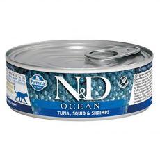 Farmina N&D cat tuna, squid & shrimp konzerva 80 g