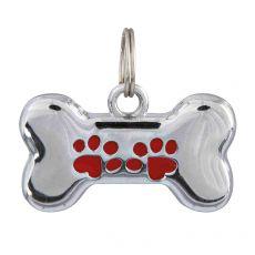 Adresár pre psa - kovová kostička, 35 x 20 mm