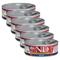 Farmina N&D cat Quinoa Digestion konzerva 6 x 80 g