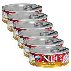Farmina N&D cat Quinoa Quail & Coconut konzerva 6 x 80 g