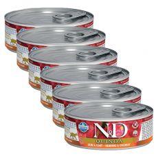Farmina N&D cat Quinoa Herring & Coconut konzerva 6 x 80 g