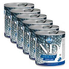 Farmina N&D dog Sea Bass & Squid konzerva 6 x 285 g