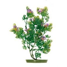 Plastová rastlinka do akvária 17 cm, fialové kvety
