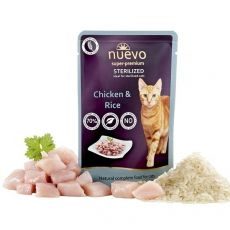 Kapsička NUEVO CAT Sterilised Chicken & Rice 85 g