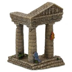 Dekorácia do akvária Zrúcanina chrámu 7,5 x 6,8 x 9,7 cm