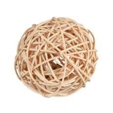 Ratanová lopta so zvončekom pre hlodavce 4 cm