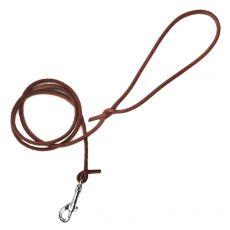 Okrúhle kožené vodítko pre psy, hnedé 120 cm / 8 mm