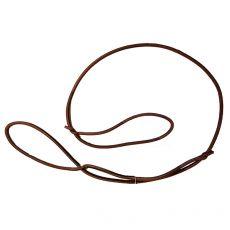 Výstavné kožené vodítko, hnedé 6 mm