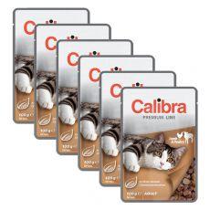 CALIBRA Cat Adult jahňacie a hydinové kúsky v omáčke 6 x 100 g
