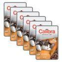 CALIBRA Cat Adult kačacie a kuracie kúsky v omáčke 6 x 100 g