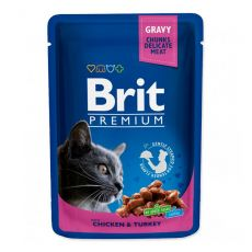 Kapsička BRIT Premium Cat Chicken & Turkey 100 g