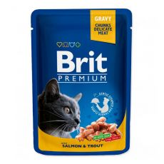 Kapsička BRIT Premium Cat Salmon & Trout 100 g