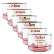 Calibra Cat Sensitive GF - Morka a losos s lososovým olejom, konzerva 6 x 200g
