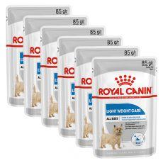 Royal Canin Light Weight Care Dog Loaf diétna kapsička s paštétou pre psy 6 x 85 g, 5+1 GRATIS