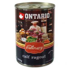 Konzerva ONTARIO Culinary Calf Ragout with Duck 400 g