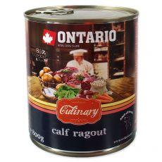 Konzerva ONTARIO Culinary Calf Ragout with Duck 800 g