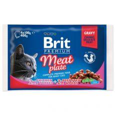 Kapsičky BRIT Premium Cat Meat Plate 4 x 100 g