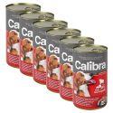 Konzerva Calibra Dog Adult hovädzie, pečeň a zelenina v želé, 6 x 1240g