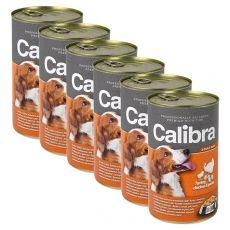 Konzerva Calibra Dog Adult morka, kura a cestoviny v želé, 6 x 1240g