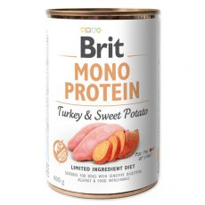 Konzerva Brit Mono Protein Turkey & Sweet Potato, 400 g