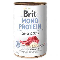 Konzerva Brit Mono Protein Lamb & Rice, 400 g