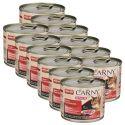 Krmivo CARNY SENIOR hovädzie + morčacie srdcia 12 x 200 g