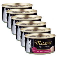 Konzerva Miamor Filet kura a šunka 6 x 100 g