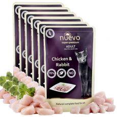 Kapsička NUEVO CAT Adult Chicken & Rabbit 6 x 85 g