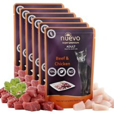 Kapsička NUEVO CAT Adult Beef & Chicken 6 x 85 g