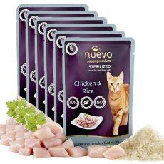 Kapsička NUEVO CAT Sterilised Chicken & Rice 6 x 85 g