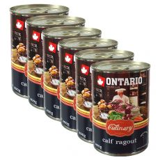 Konzerva ONTARIO Culinary Calf Ragout with Duck 6 x 400 g