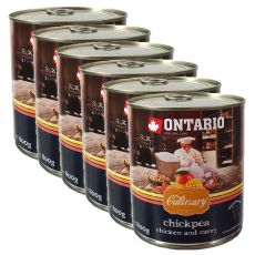 Konzerva ONTARIO Culinary Chickpea, Chicken and Curry 6 x 800 g