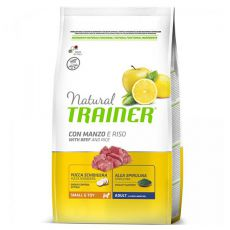 Trainer Natural Small and Toy Adult, hovädzie a ryža 2 kg