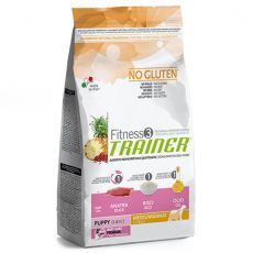 TRAINER Fitness 3 Puppy Medium / Maxi Duck & Rice 12,5 kg