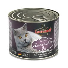 Konzerva pre mačku Leonardo - Králik 200g