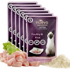 Kapsička NUEVO CAT Kitten Poultry & Rice 6 x 85 g, 5 + 1 GRATIS