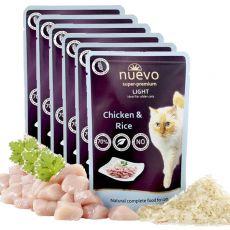 Kapsička NUEVO CAT Light Chicken & Rice 6 x 85 g