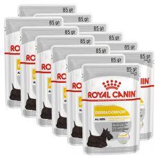 Royal Canin Dermacomfort Dog Loaf kapsička s paštétou pre psy s problémami s kožou 12 x 85 g
