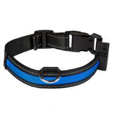Svietiaci USB obojok EYENIMAL, modrý L