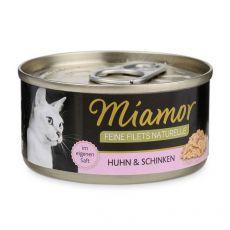 Konzerva Miamor Feine Filets kura a šunka v omáčke 80 g
