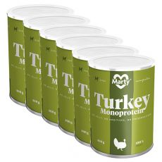 Konzerva MARTY Turkey Monoprotein 6 x 400 g