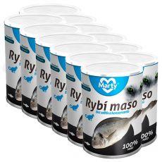 Konzerva pre mačky MARTY Premium Fish 12 x 400 g