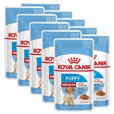 Royal Canin Medium Puppy kapsička pre stredné šteňatá 10 x 140 g