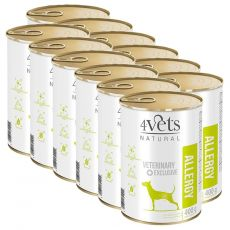4Vets Natural Veterinary Exclusive ALLERGY 12 x 400 g