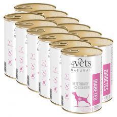 4Vets Natural Veterinary Exclusive DIABETES 12 x 400 g