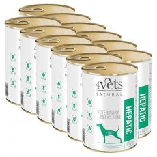 4Vets Natural Veterinary Exclusive HEPATIC 12 x 400 g