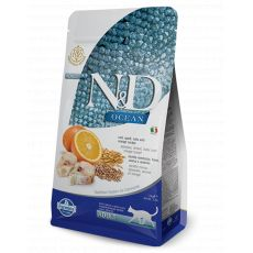 Farmina N&D cat OCEAN Adult Cod, Spelt, Oats & Orange Adult 1,5 kg